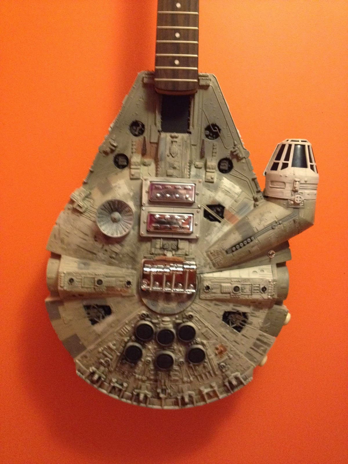 Commissioned Millennium Falcon REBEL BASS Guitar